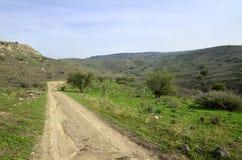 Wzgórze Golan kształtują teren, Izrael Zdjęcie Royalty Free