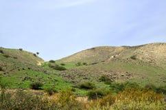 Wzgórze Golan kształtują teren, Izrael Obraz Royalty Free