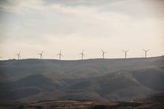 Wzgórze Golan Wiatrowy gospodarstwo rolne jest izraelita zdjęcia royalty free