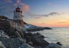 wzgórze grodowa latarnia morska Zdjęcie Stock