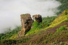 Wzgórze kamiennej rośliny chmura Fotografia Stock