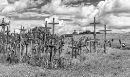 Wzgórze krzyże, KryziÅ ³ Kalnas, lokalizować 12 kilometru północnego Zdjęcie Stock