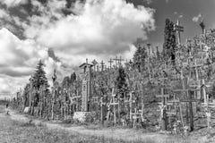 Wzgórze krzyże, KryziÅ ³ Kalnas, lokalizować 12 kilometru północnego Obraz Royalty Free
