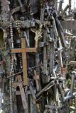 Wzgórze krzyże w Siauliai, Lithuania obrazy stock