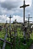 Wzgórze krzyże w Siauliai, Lithuania zdjęcia royalty free