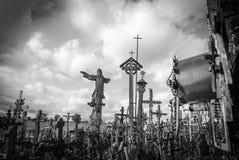 Wzgórze krzyże, blisko Siauliai, Lithuania Zdjęcie Stock