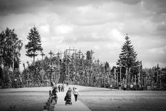 Wzgórze krzyże, BN, Lithuania Obraz Stock