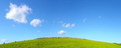 Wzgórze lawned Zdjęcia Stock