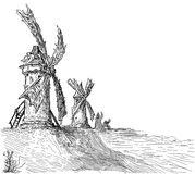 wzgórze młyny Obraz Stock