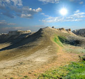 Wzgórze na plateau Shalkar-Nura Obraz Stock
