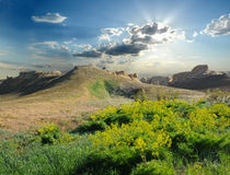 Wzgórze na plateau Ustyurt Fotografia Royalty Free