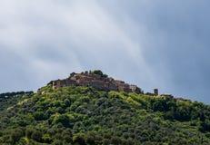 Wzgórze odgórna wioska Obraz Royalty Free