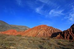 Wzgórze siedem kolorów, Cerro De Los Siete colores przy Purmamarca, Jujuy, Argentyna Obrazy Royalty Free