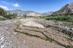Wzgórze Siedem kolorów w Jujuy, Argentyna. Fotografia Stock