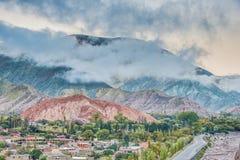Wzgórze Siedem kolorów w Jujuy, Argentyna. Zdjęcie Stock