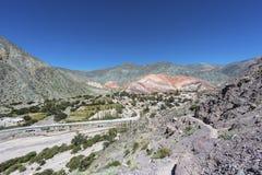 Wzgórze Siedem kolorów w Jujuy, Argentyna. Fotografia Royalty Free