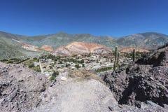 Wzgórze Siedem kolorów w Jujuy, Argentyna Zdjęcie Royalty Free