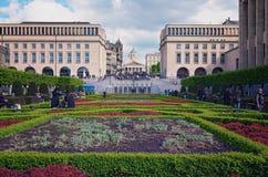 Wzgórze sztuki Mont des sztuki/Kunstberg jest pięknym parkiem w historycznym centrum Bruksela Obraz Royalty Free