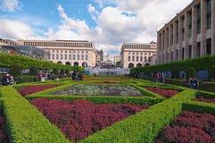Wzgórze sztuki Mont des sztuki/Kunstberg jest pięknym parkiem w historycznym centrum Bruksela Obrazy Royalty Free