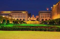 Wzgórze sztuki Mont des sztuki/Kunstberg jest pięknym parkiem w historycznym centrum Bruksela Zdjęcia Royalty Free