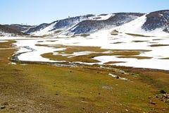 wzgórze w Africa Morocco atlant rzeka Zdjęcie Royalty Free