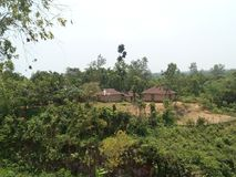 Wzgórze wioska Zdjęcie Stock