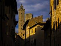 Wzgórze wioska w Tuscany fotografia stock