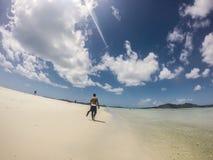 Wzgórze wpusta whitsunday wyspy Fotografia Royalty Free