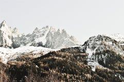 Wzgórzy i szwajcara Alps z śniegiem Zdjęcia Royalty Free