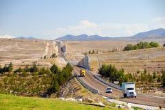 wzgórzy Mexico droga Fotografia Stock