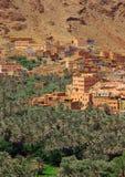 wzgórzy moroccan wioska Zdjęcia Stock