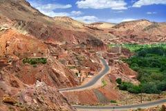 wzgórzy moroccan wioska Fotografia Royalty Free