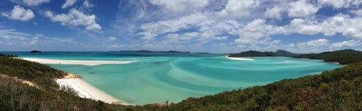 Wzgórze wpusta punktu obserwacyjnego Whitsunday wyspa Zdjęcia Royalty Free