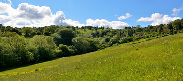 Wziąć powabnego spacer Charlcombe, sweetly lokalizujący w zielonej dolinie troszkę Fotografia Stock