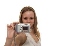 wziąć zdjęcie kobiety Obraz Royalty Free