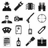 Wzierne proste ikony ilustracja wektor