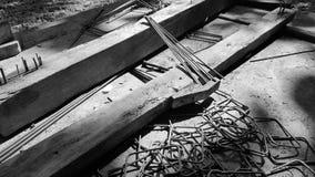 Wzmacniać stalową kolumnę dla buildin zdjęcie royalty free