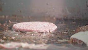 Wzmacnia piec cutlet na grill niecce z rozmarynami, pomidor, seasonings Odgórny widok zbiory