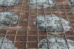 Wzmacnienie przed dolewanie betonem Obrazy Royalty Free