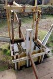 Wznawiająca drewniana jigging maszyna dla sortować blaszaną kruszec przy starym C, zdjęcie royalty free
