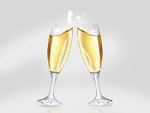 Wznosić toast nowego Fotografia Stock