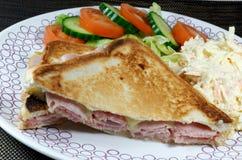 Wznosząca toast Kubańska kanapka Zdjęcie Royalty Free