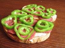 Wznoszący toast chleb fotografia stock