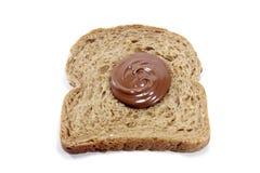 Wznoszący toast chleb z czekoladą Fotografia Stock