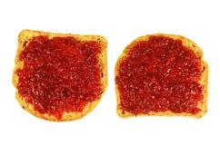 wznoszący toast chlebowy dżem Zdjęcie Royalty Free