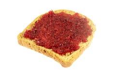 wznoszący toast chlebowy dżem Zdjęcia Royalty Free