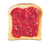 Wznoszący toast chlebowy plasterek z dżemem Obrazy Royalty Free
