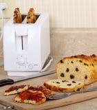wznosząca toast chlebowa rodzynka Obrazy Royalty Free
