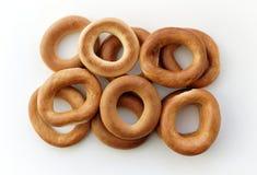 Wznoszący toast bagels round Obraz Stock