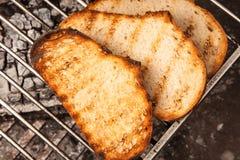 Wznoszący toast chleb Obrazy Royalty Free